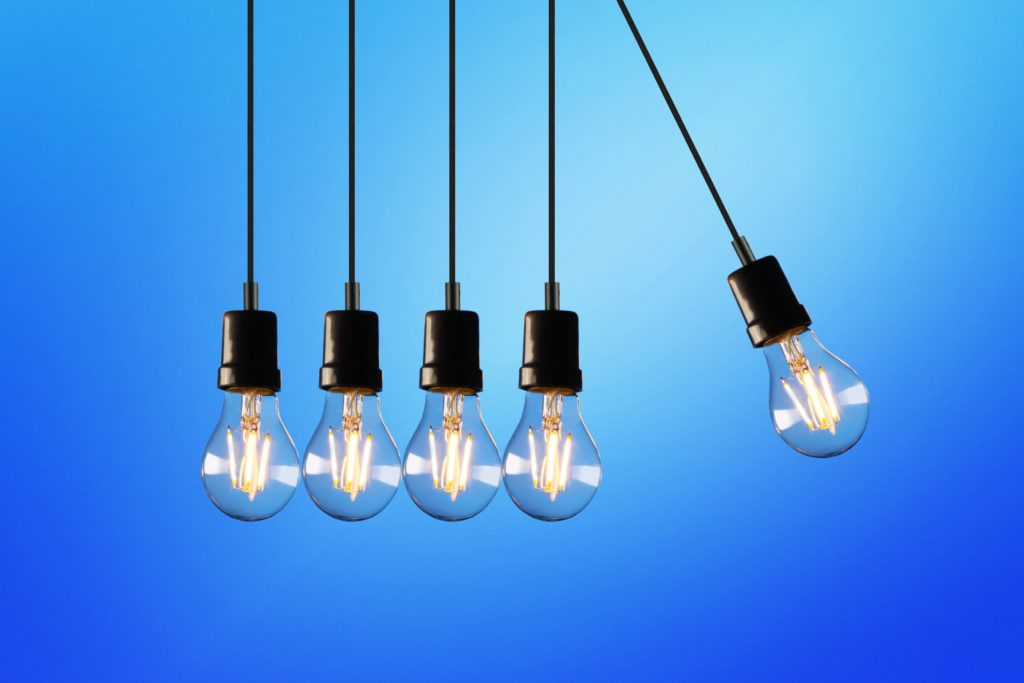 image of light bulbs representing energy efficiency