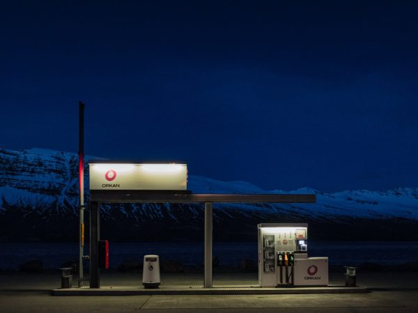 image of a gas station