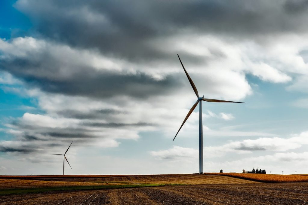 image of wind mill representing renewable heating