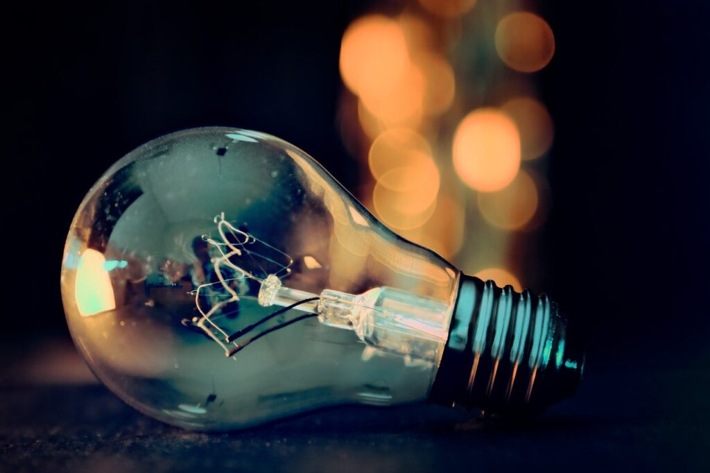 image of a light bulb representing commercial energy audit