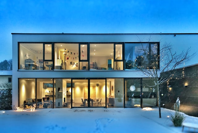 image of a modern energy friendly home
