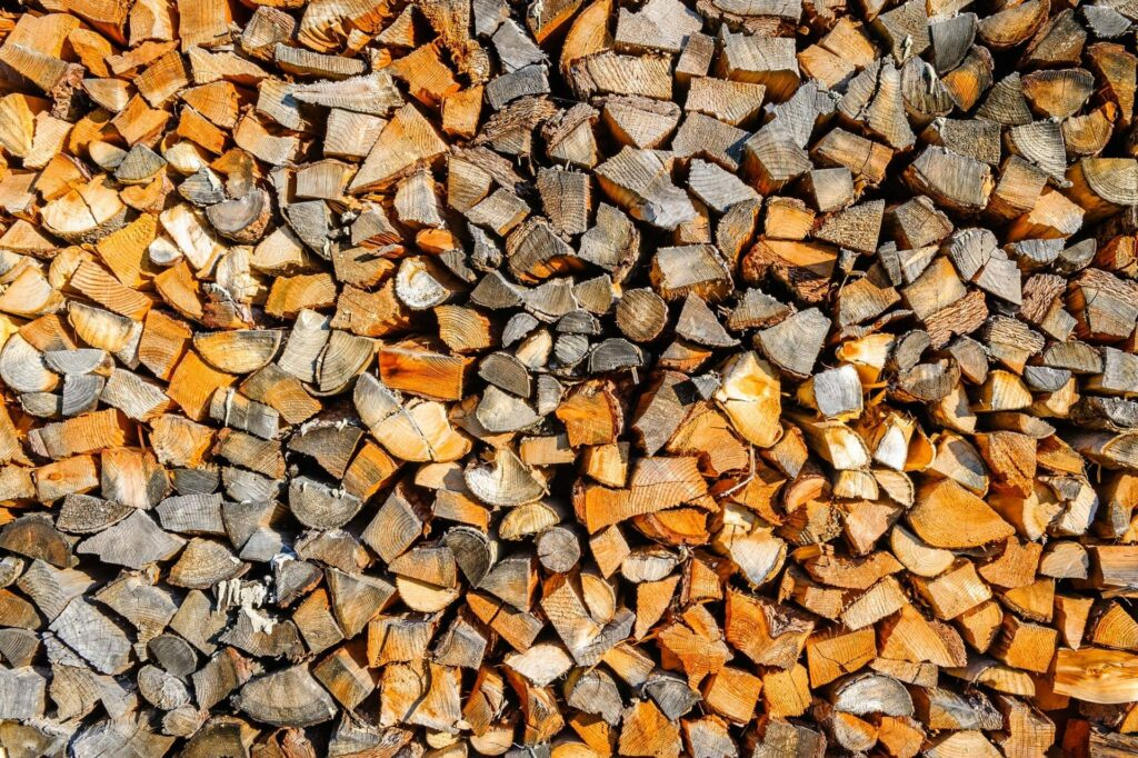 Biomass Boiler Warranty, wood chips used in a Biomass Boiler chopped and stacked neatly